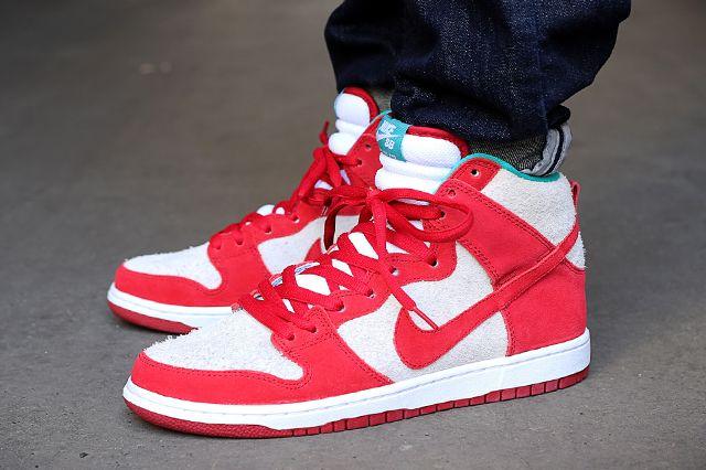 Nike Dunk High Pro Sb Gym Red White
