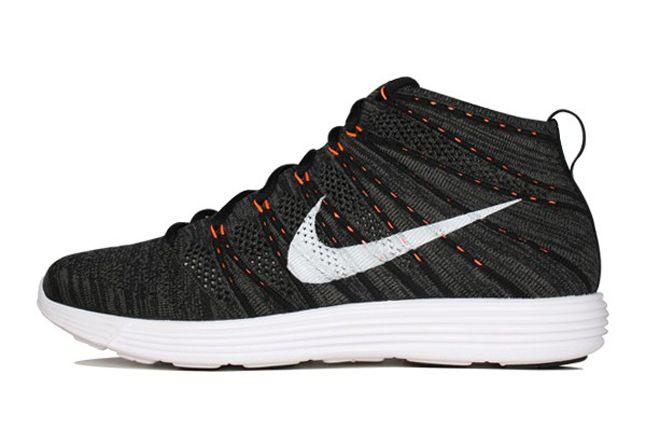 Nike Flyknit Chukka Orange Zest Lateral 1