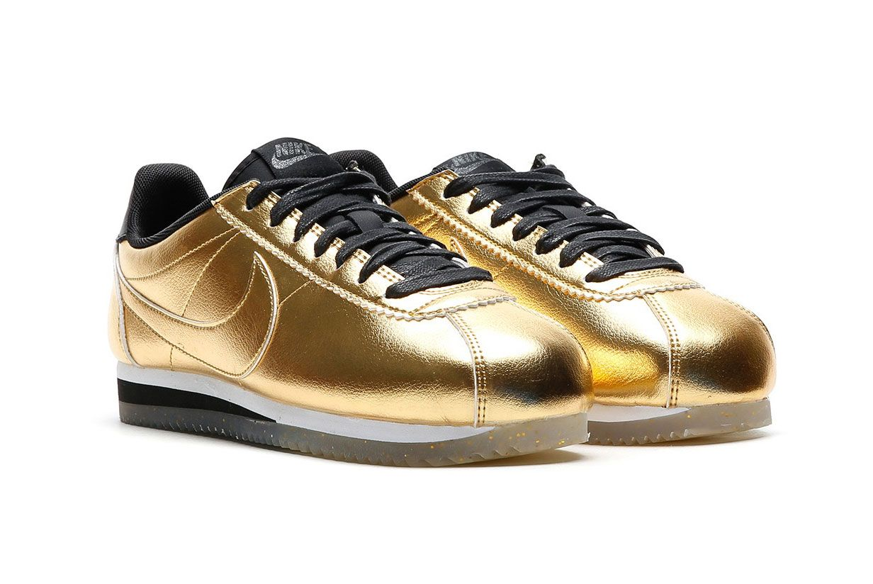 Nike Classic Cortez Leather Metallic Gold