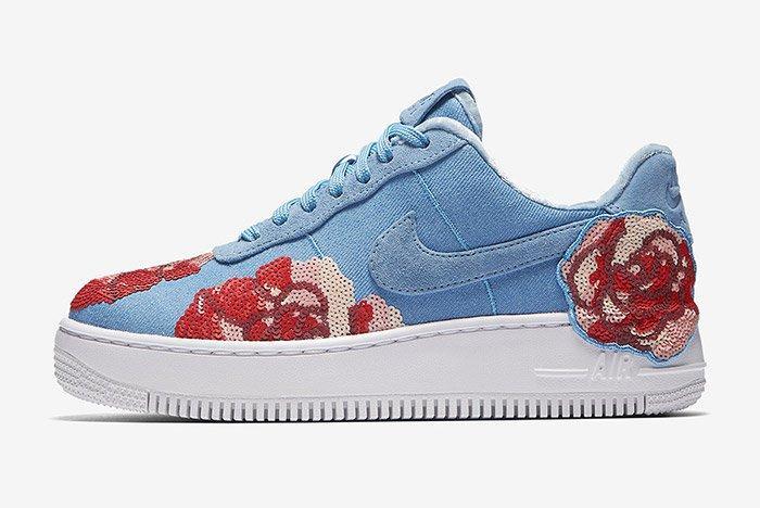 Nike Air Force 1 Denim Floral Seqine 6