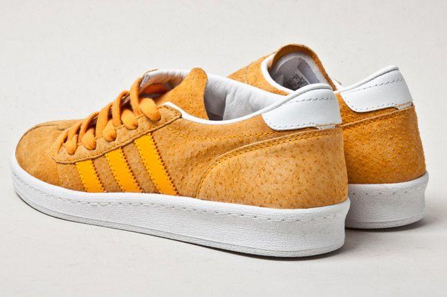 Adidas Campus Football Orange Heel 1