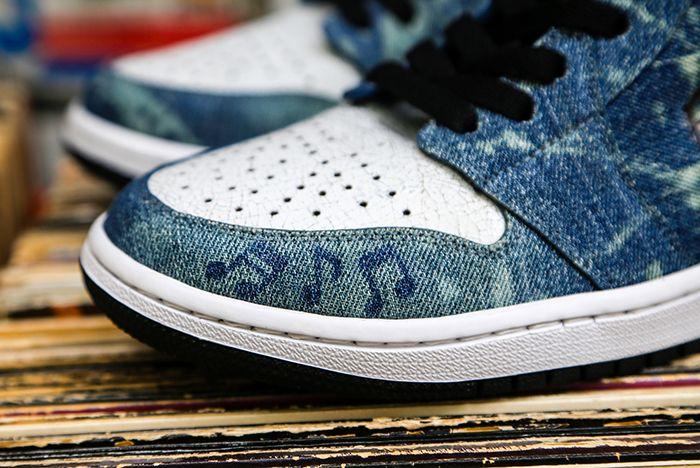 Air Jordan 1 Penny Royal Ceeze Custom Toe Detail