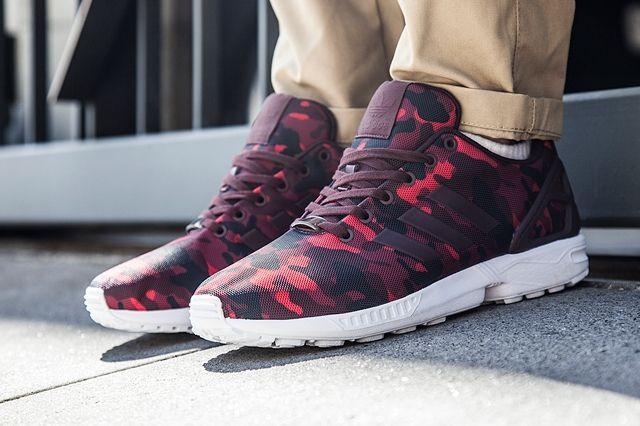 adidas Zx Flux (Burgundy Camo) - Sneaker Freaker