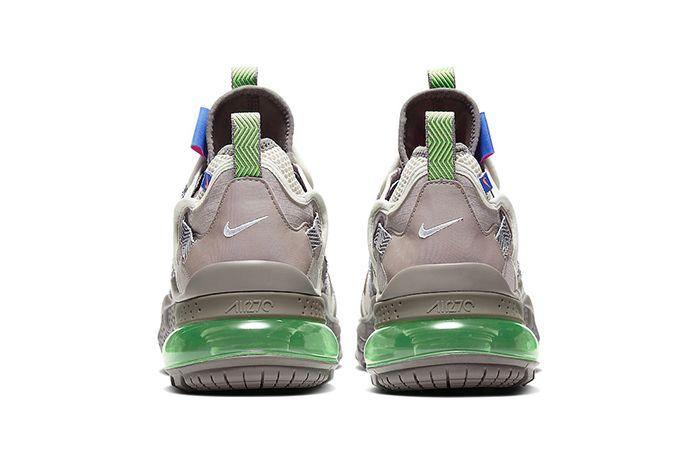 Nike Air Max 270 Bowfin Desert Sand Electric Green Aj7200 007 Release Date Heel