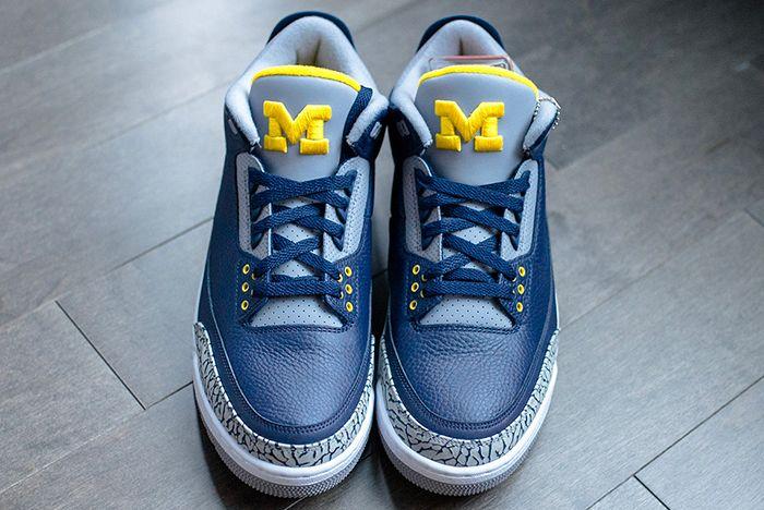 Air Jordan 3 College Pe Michigan 4 Sneaker Freaker