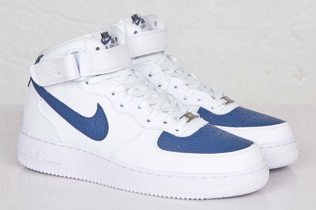 Nike Af1 Mid 07 White Blue Legend 5