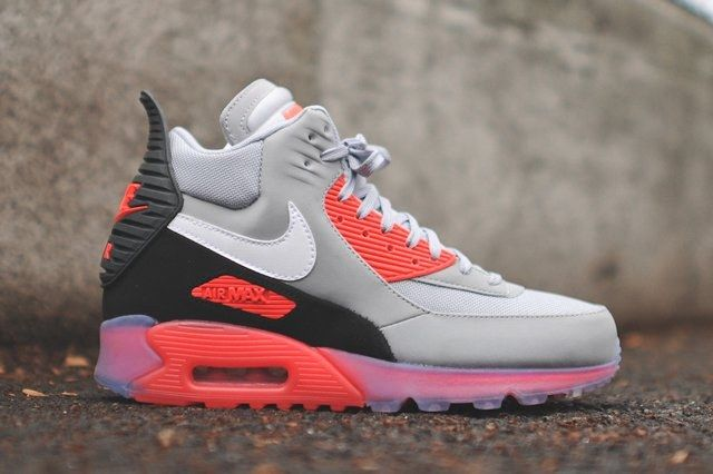 Nike Air Max 90 Sneakerboot Ice Infrared Bump 8