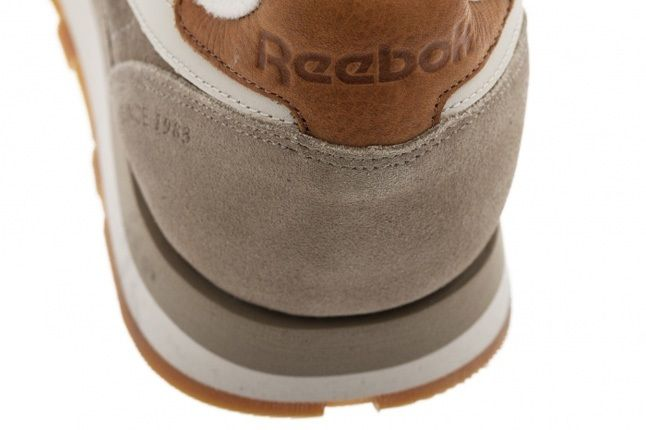 Reebok Classic Leather Suede Sand Heel Detail 1