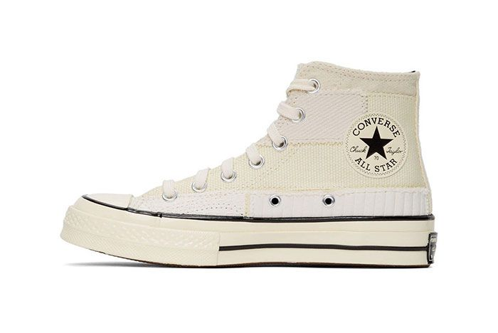 Converse Patchwork Chuck 70 High Sneakers White Medial