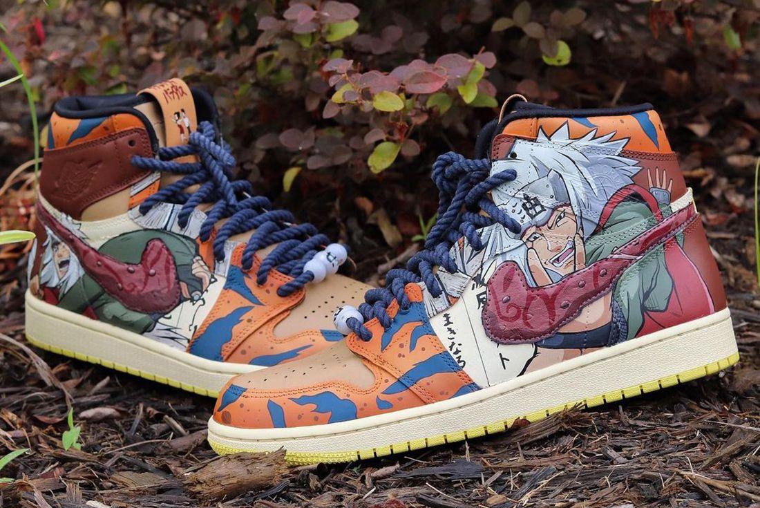 Naruto Toad Sage Air Jordan 1 Custom