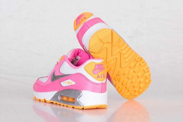 Nike Air Max 90 Gs Pink Glow Metallic Silver 4