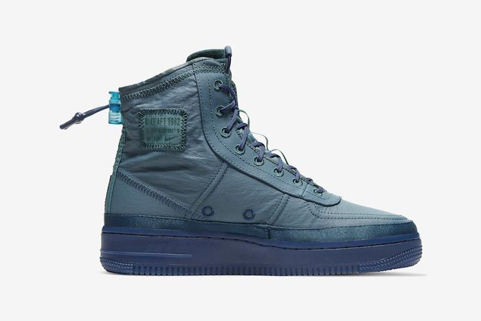 Nike Air Force 1 Shell Midnight Turquoise Medial
