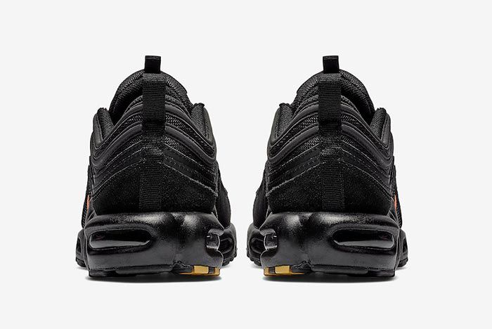 Nike Air Max Plus 97 Black Orange Heels