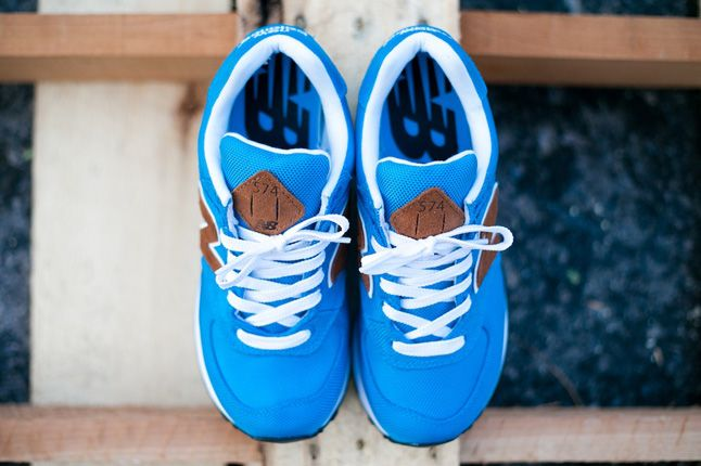 New Balance Women 574 Backpack Edition Blue Top 1