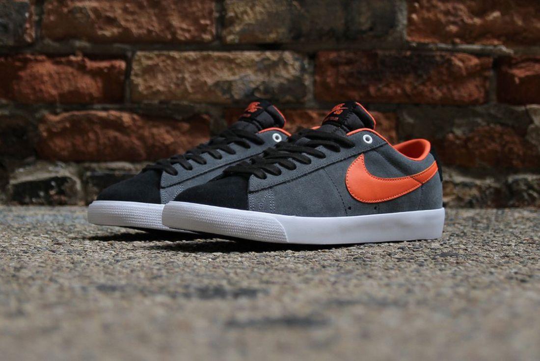 Nike Sb Blazer Low Gt Anthracite Turf Orange