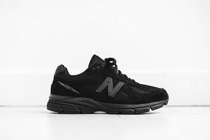 New Balance Kith 990 Triple Black Sneaker Freaker