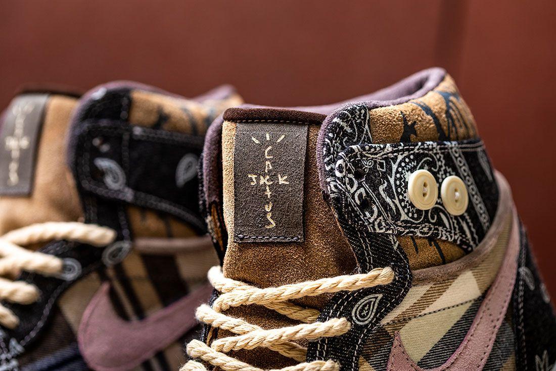 Bespokeind Travis Scott Air Jordan 1 Custom Bandana Sneaker Freaker Hero Shot5
