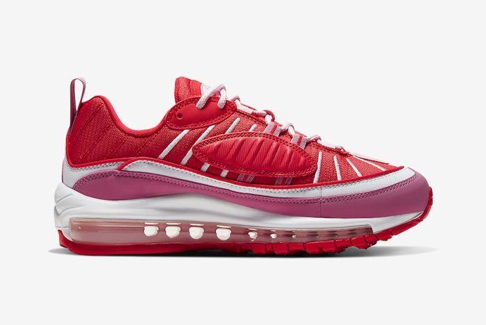 Nike Air Max 98 Pink Red Medial