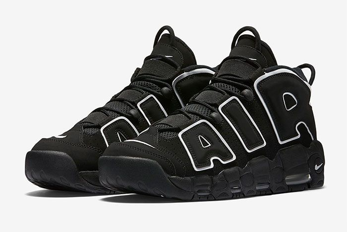 Nike Air More Uptempo Og Black White Toe