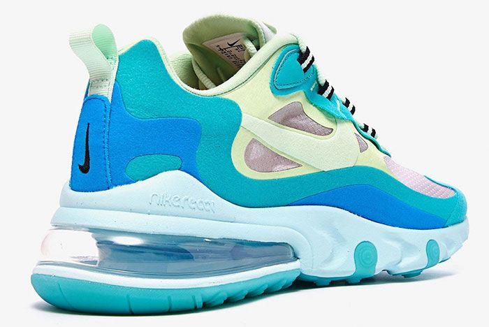 Nike Air Max 270 React Hyper Jade Ao4971 301 Rear Angle