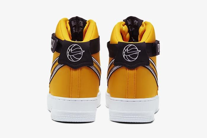 Nike Air Force 1 High University Gold Heels