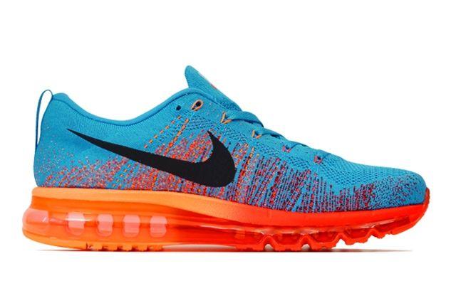 Nike Flyknit Air Max Vivid Blue Atomic Orange 5