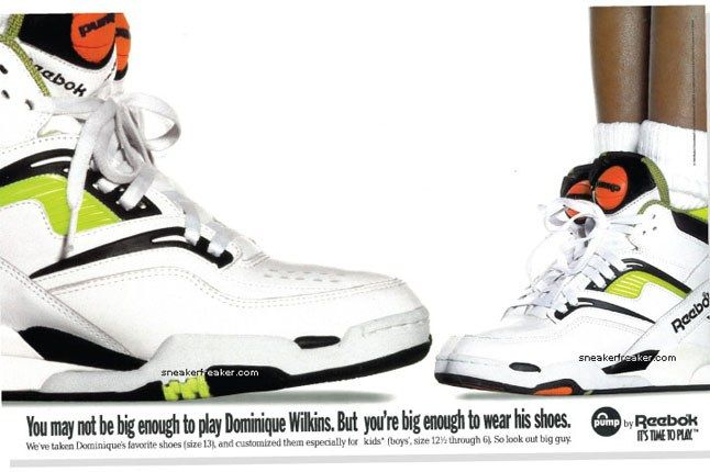 Reebok Twilight Zone Pump Dominique Wilkins 8 1