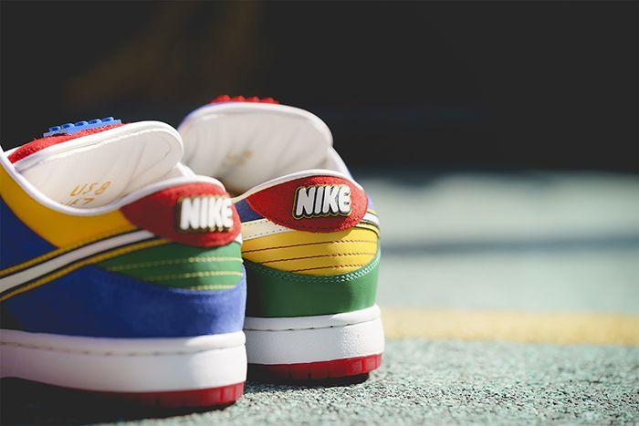 Bespokeind Nike Sb Dunk Low Pro Lego Release Date Heel