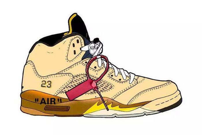 Off White Air Jordan 5 Right