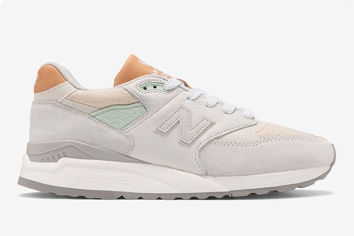 New Balance 998 White Tan Right