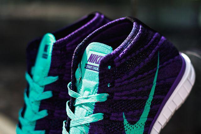Nike Wmns Free Flyknit Chukka Court Purple Hyper Jade 3