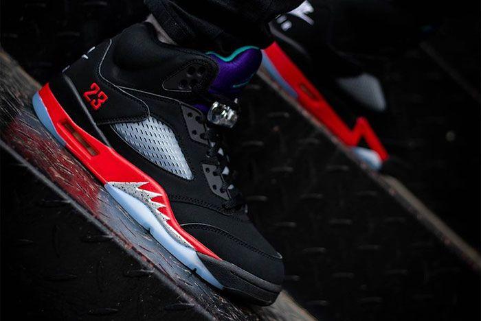 Air Jordan 5 Top 3 Cz1786 001 On Feet Release Date 1 Leak