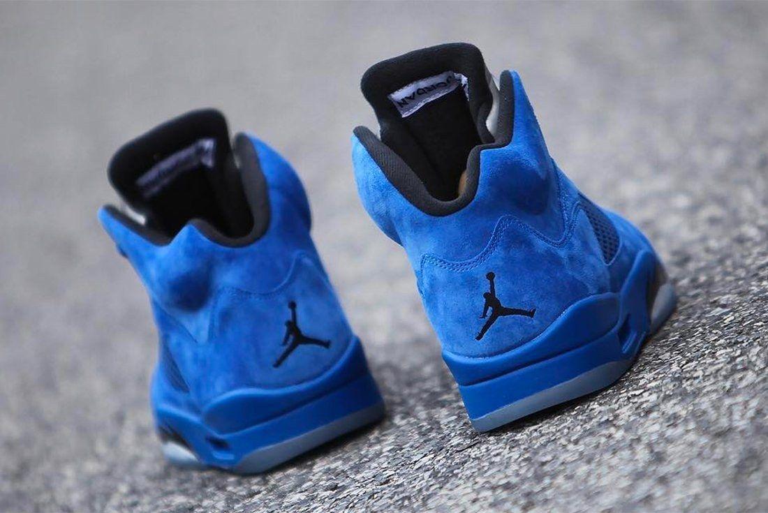 Air Jordan 5 Blue Suede 11