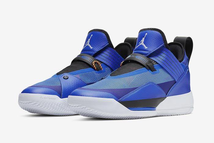 Air Jordan 33 Se Blue Pair