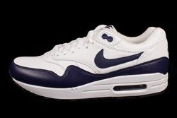 Nike Air Max 1 Leather White Navy Thumb