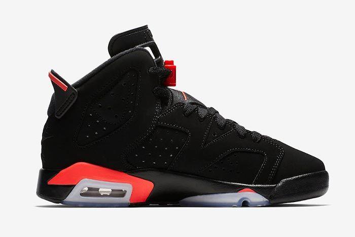 Air Jordan 6 Black Infrared Childrens 3