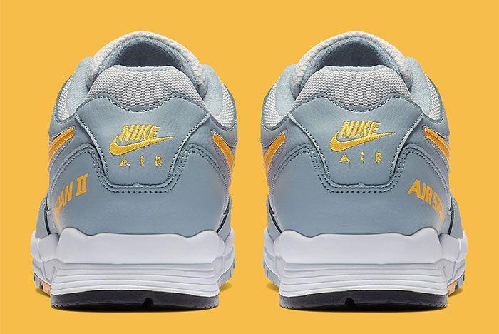 Nike Air Span Ii Grey Yellow Back