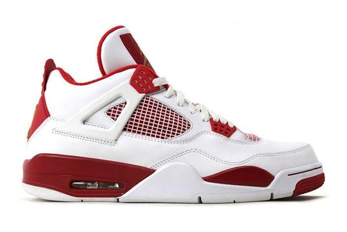 Air Jordan 4 White Red Olympic Pe