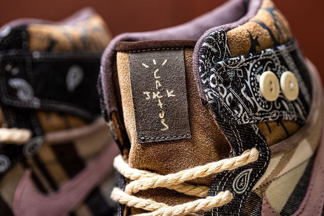 Bespokeind Travis Scott Air Jordan 1 Custom Bandana Sneaker Freaker Hero Shot6