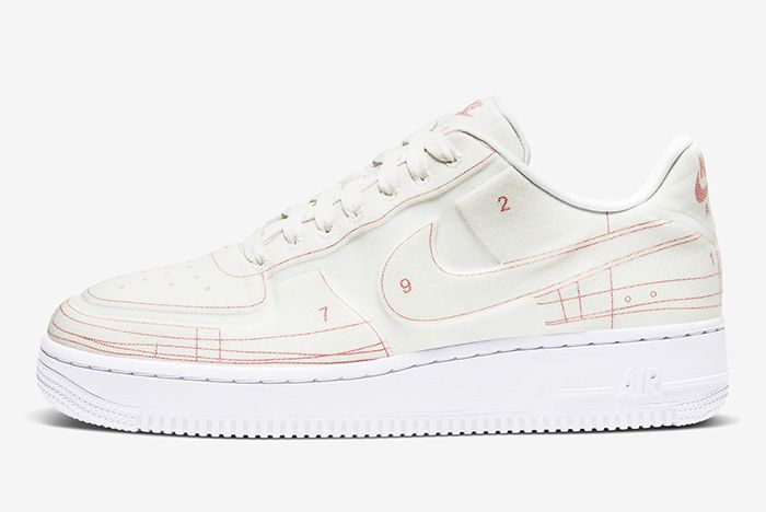 Nike Air Force 1 Low Schematic White Lateral Side