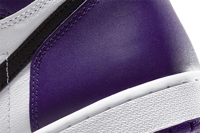 Air Jordan 1 Court Purple heel detail shot