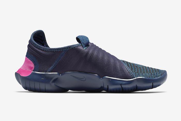 Nike Free Rn Flyknit 3 Midnight Navy Medial