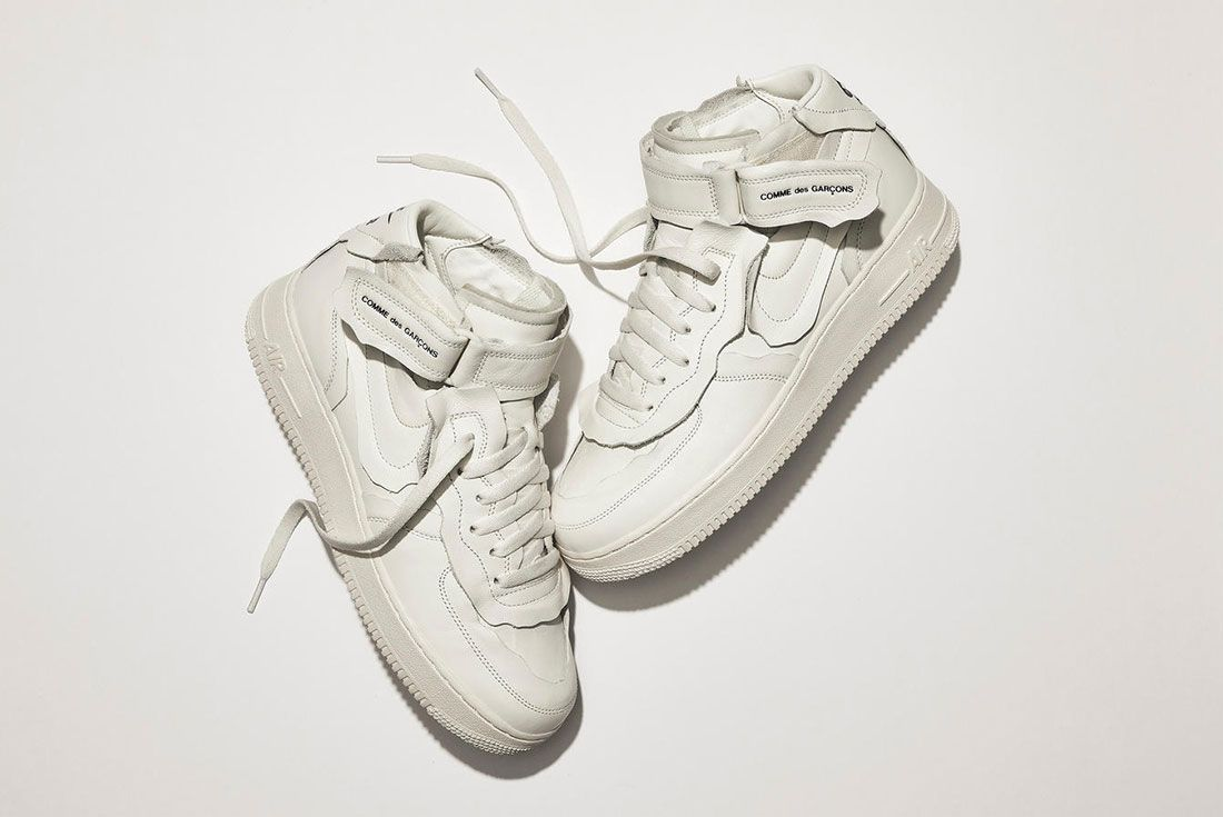 Comme des Garcons Nike Air Force 1 Mid White