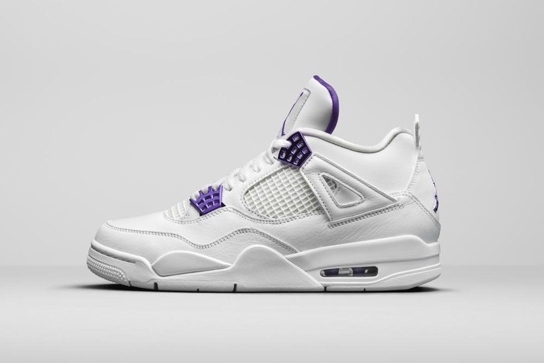 Jordan Brand Summer 2020 Air Jordan 4 Metallic Pack Purple Lateral