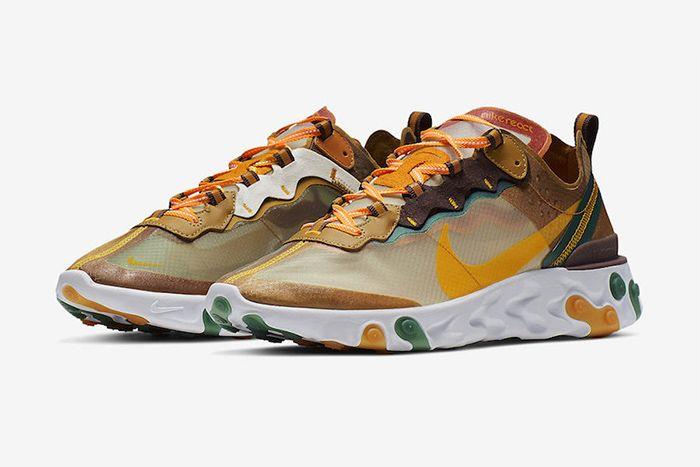 Nike React Element 87 Orange Peel Release Date Pair