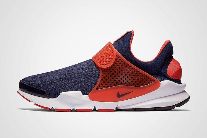 Nike Sock Dart Navy Orange Thumb