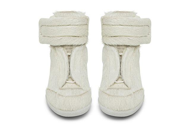 Maison Martin Margiela Pony Skin Exclusive White High Top Sneaker Front