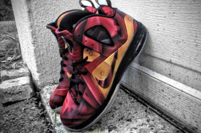 Ironman Nike Lebron 9 Elite Tony Starks Mache Custom Kicks 1