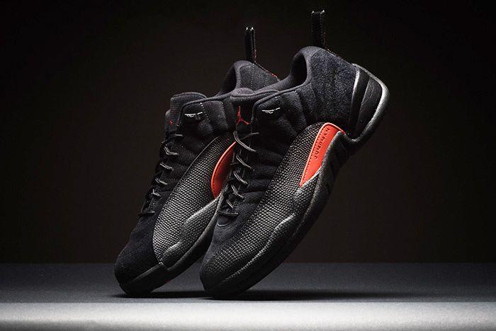Air Jordan 12 Low Black Max Orange Thumb