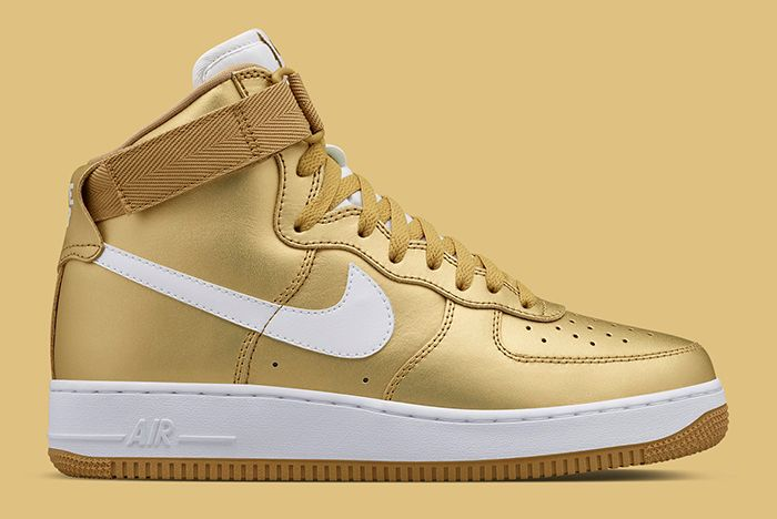 Gold Nike Air Force 1 2